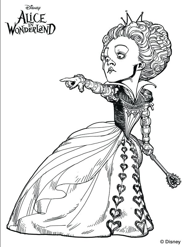 600x800 Queen Of Hearts Coloring Page Disney Queen Of Hearts Coloring