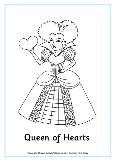 460x650 Queen Of Hearts Colouring Page