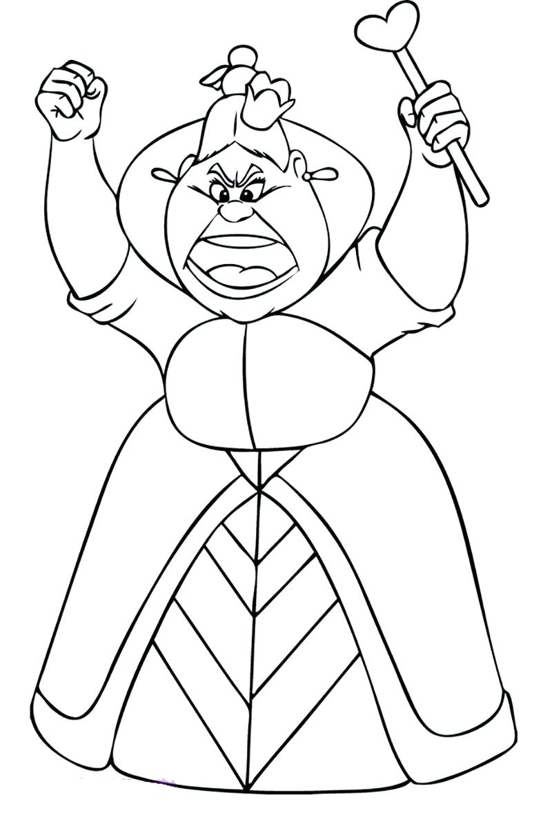 800x1179 Coloring Page Alice In Wonderland Coloring Page Queen Of Hearts