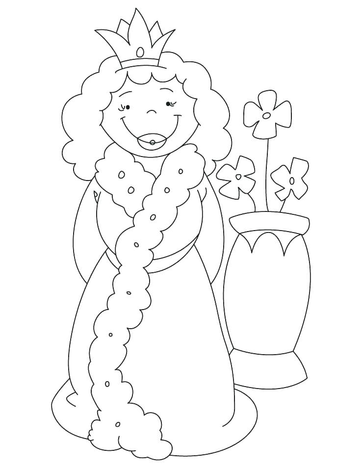 738x954 Queen Of Hearts Coloring Page
