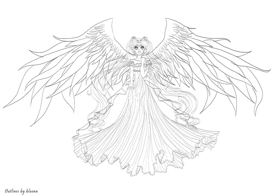 Queen Serenity Coloring Pages