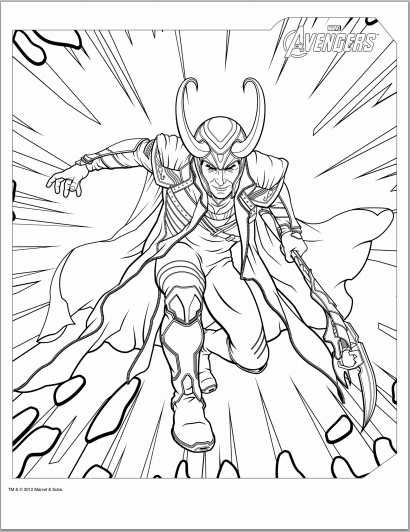 410x532 Avengers Loki Coloring Page Coloring Printables