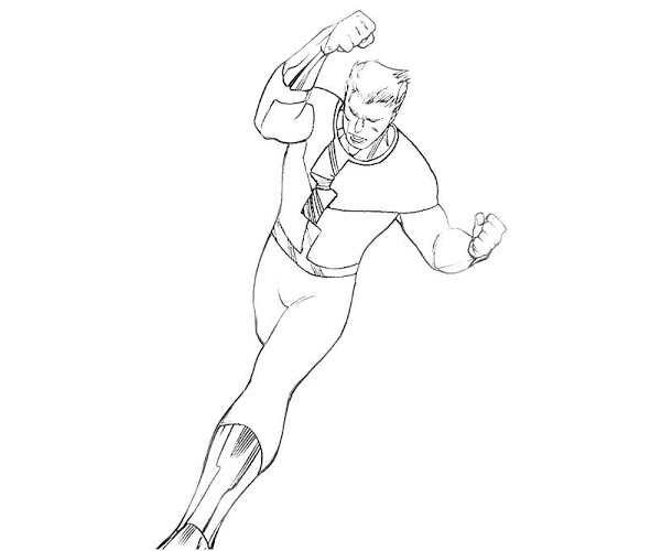 600x500 Marvel Quicksilver Coloring Pages