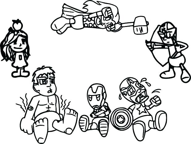 618x465 Marvel Avengers Coloring Pages