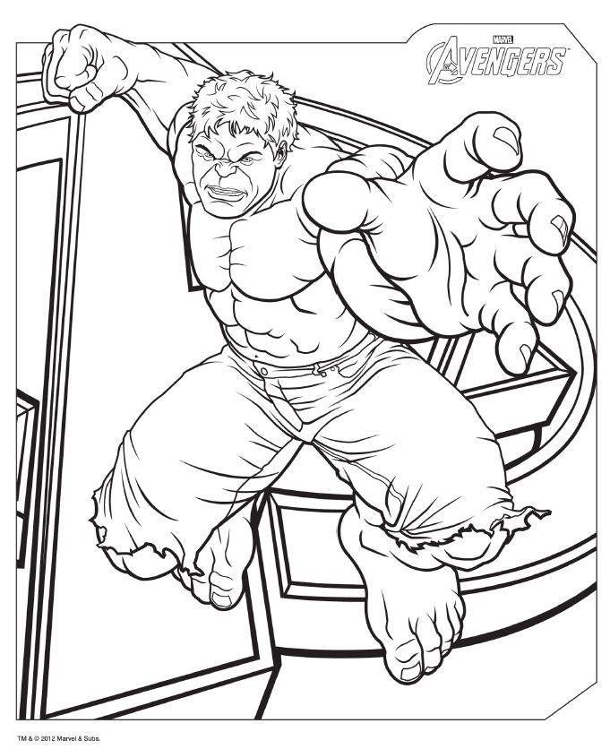 681x836 Avengers Coloring Pages