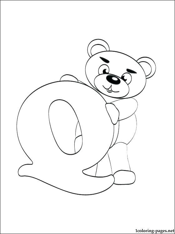 560x750 Letter Q Coloring Page Alphabet Letter Q For Quiet Coloring Page