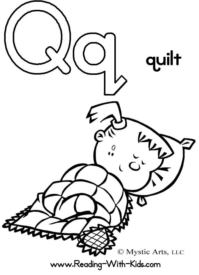 670x922 Letter Q Coloring Page Quilt