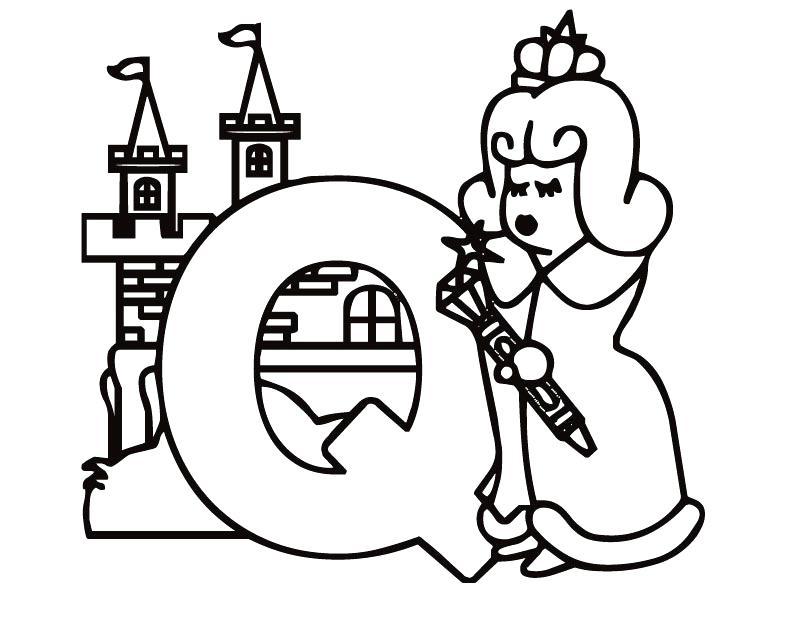 810x630 Letter Q Coloring Pages Alphabet Letter Q For Quiet Coloring Page