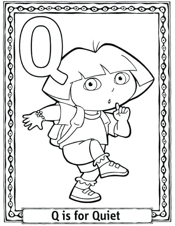 580x748 Q Coloring Page Quiet Alphabet Coloring Pages Coloring Pages