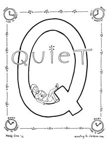 220x289 Quiet Coloring Page