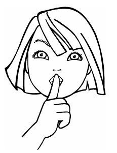 231x301 Quiet Coloring Pages