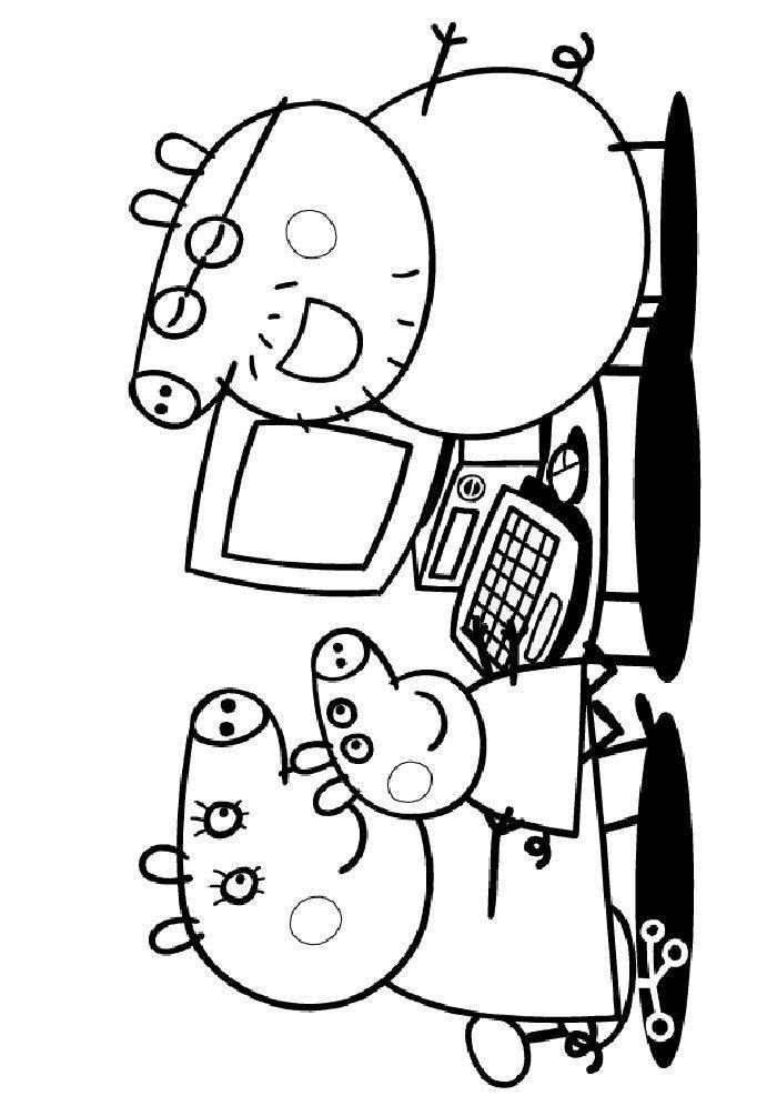 700x996 Coloring Page Peppa Pig Kids N Fun Doodle It! Felt