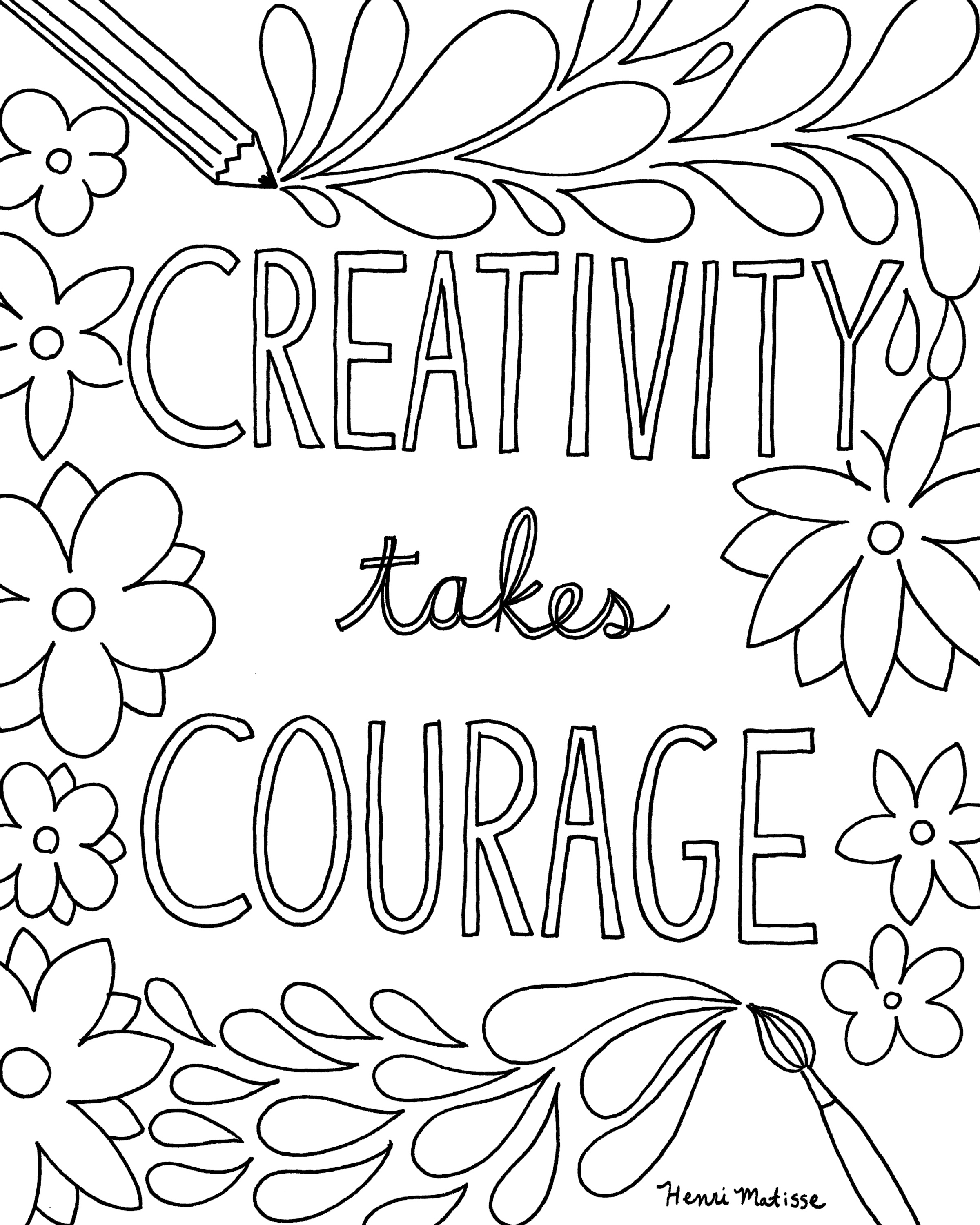 2400x3000 Free Printable Quote Coloring Pages For Grown Ups