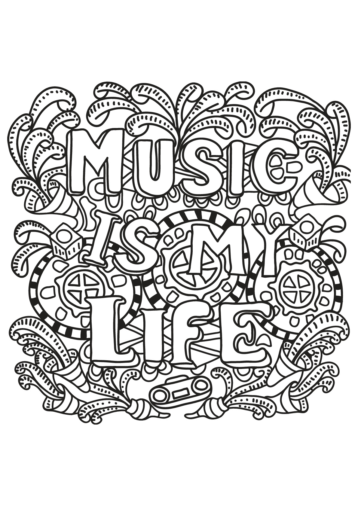 1191x1684 Free Book Quote Quotes Coloring Pages Coloring Pages For Adults