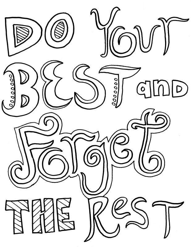 Quote Coloring Pages To Print At Getdrawings Com Free For Personal