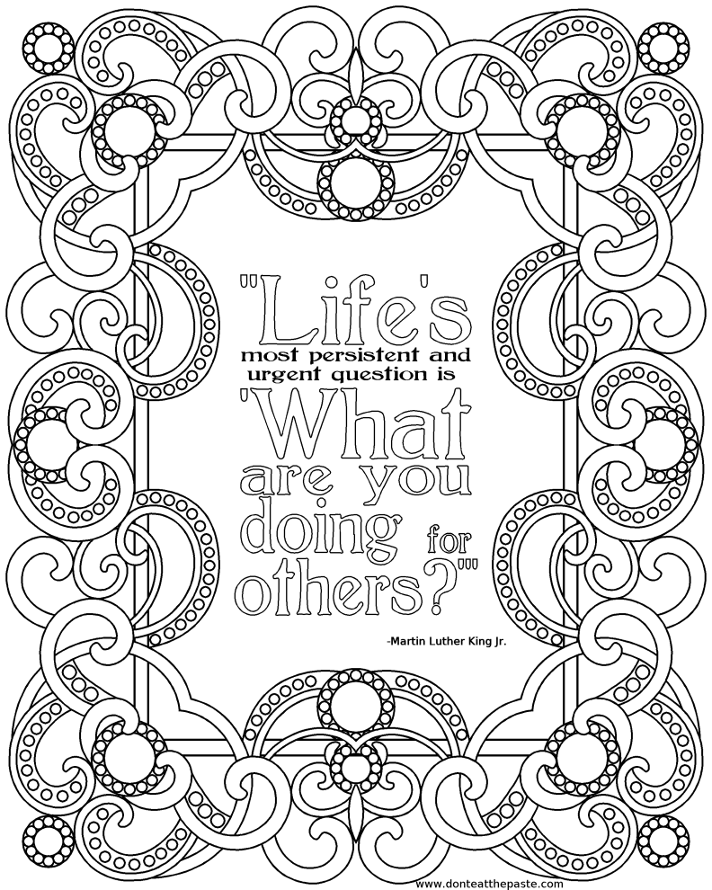picture relating to Free Printable Quote Coloring Pages for Adults called Quotation Coloring Internet pages In the direction of Print at  Totally free for