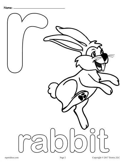 425x550 Letter R Alphabet Coloring Pages
