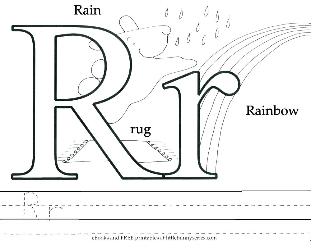 1000x776 Letter R Coloring Free Printable Letter C Coloring Pages Printable