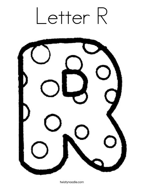 468x605 Letter R Coloring Page