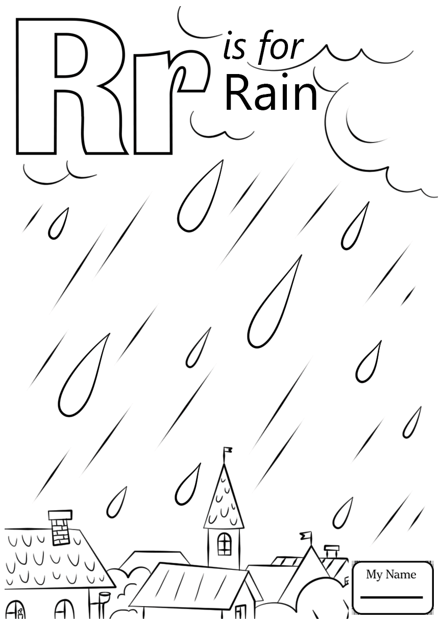 866x1224 Letter R Coloring Pages Page Free