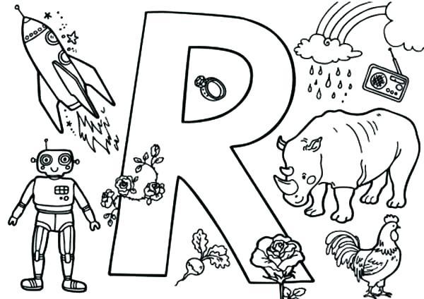 600x424 Letter R Coloring Pages Preschool Letter R Coloring Page Epic R