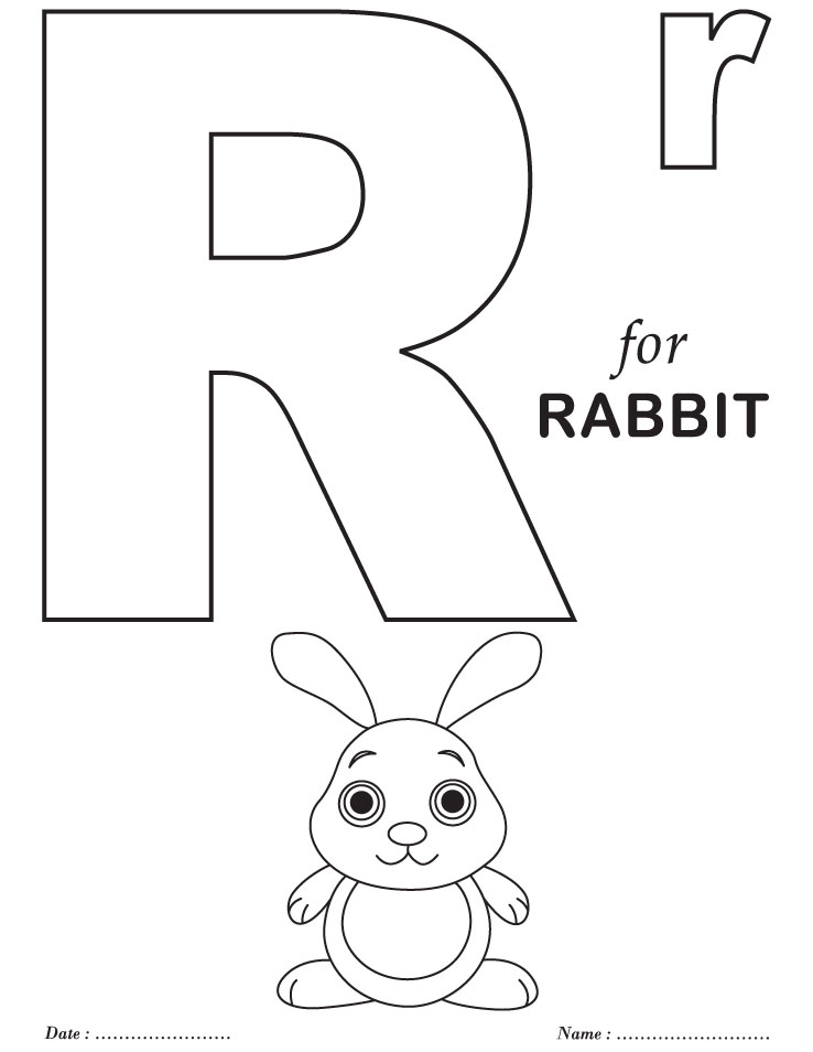 738x954 Printable Alphabet Letter R Coloring Page