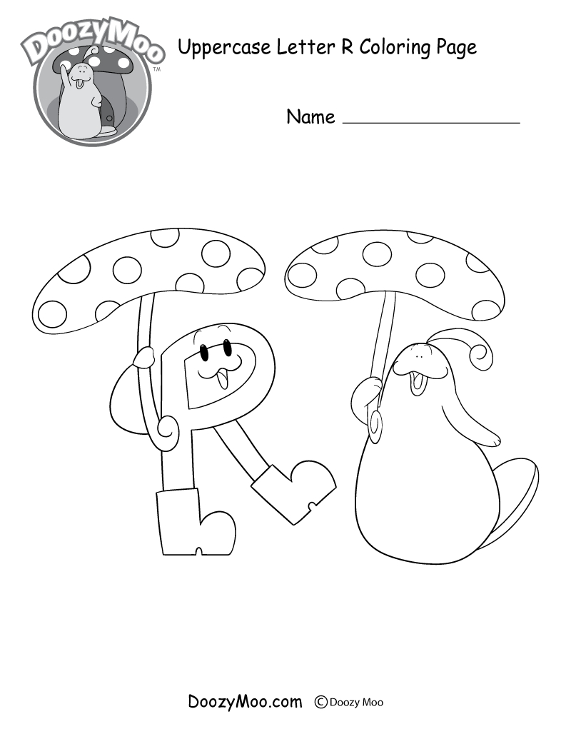 800x1035 Printable Cute Uppercase Letter R Coloring Page Free Printable