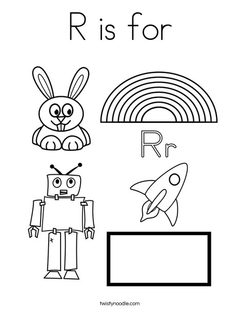 468x605 R Is For Coloring Page