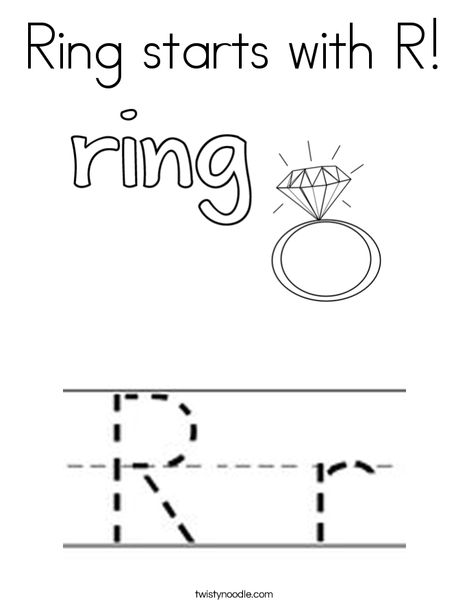 685x886 Ring Starts With R Coloring Page