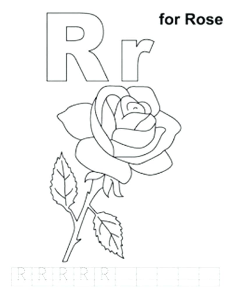 793x1024 Coloring Page Letter R Coloring Page Alphabet Free Printable