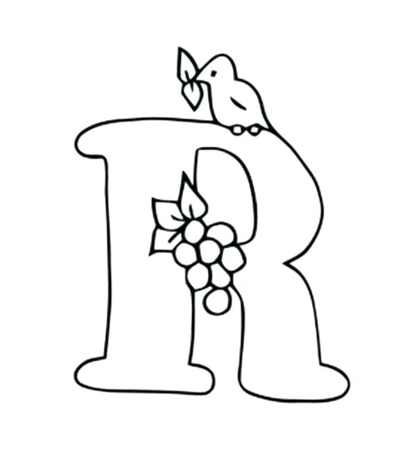 600x658 Free Worksheets For Your Kids Alphabet R Coloring Page Coloring