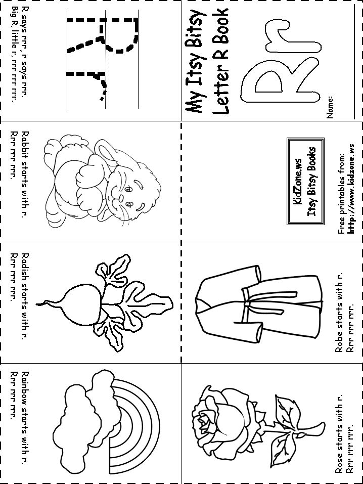 preschool r coloring pages - photo#5
