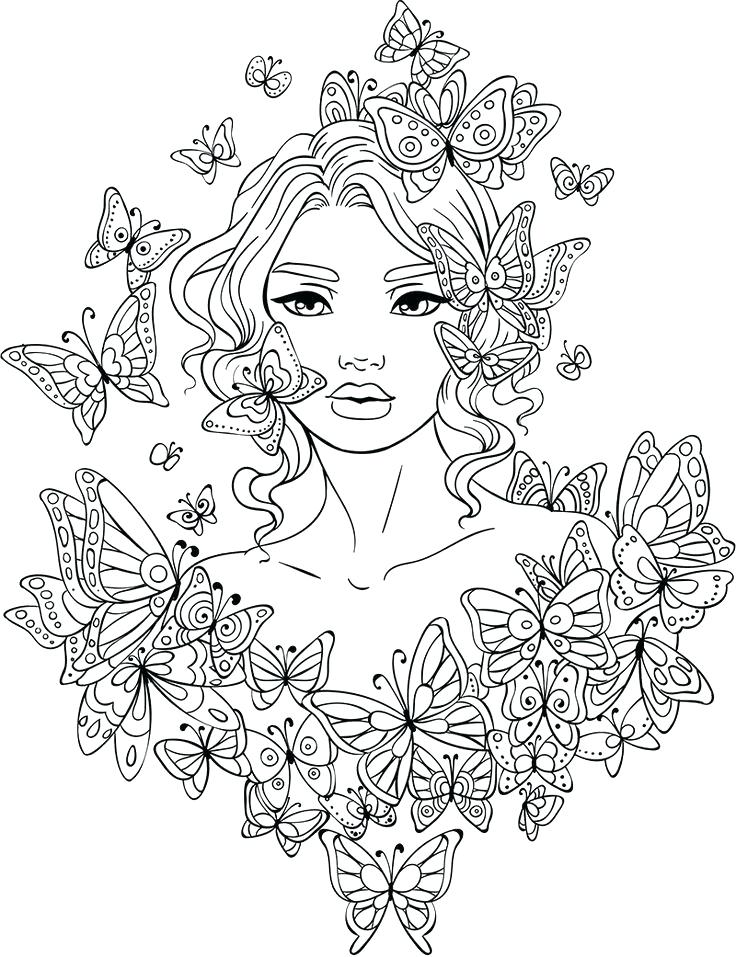 736x957 Female Coloring Pages Full Size Of Pens For Coloring