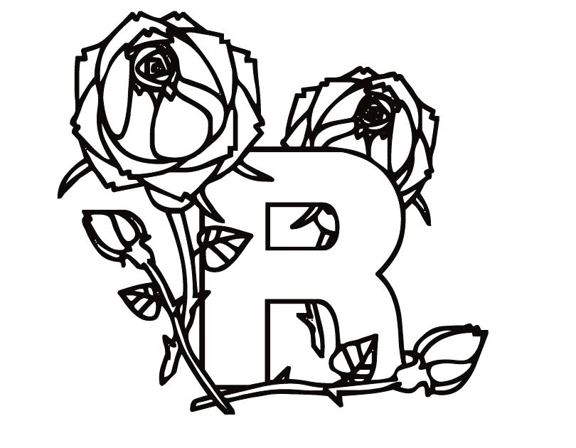 810x630 Letter R Coloring Page Letter Z Coloring Pages Kindergarten