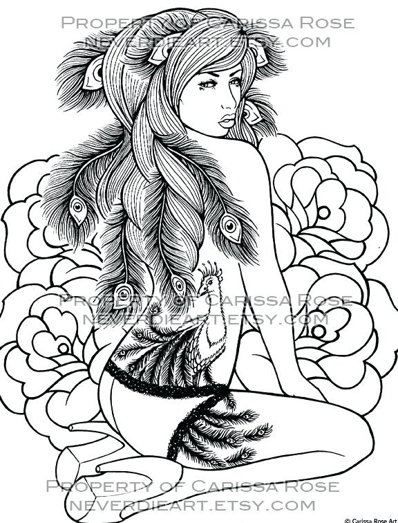 576x756 Pin Up Girl Coloring Pages Full Size Of Printable Adults Only