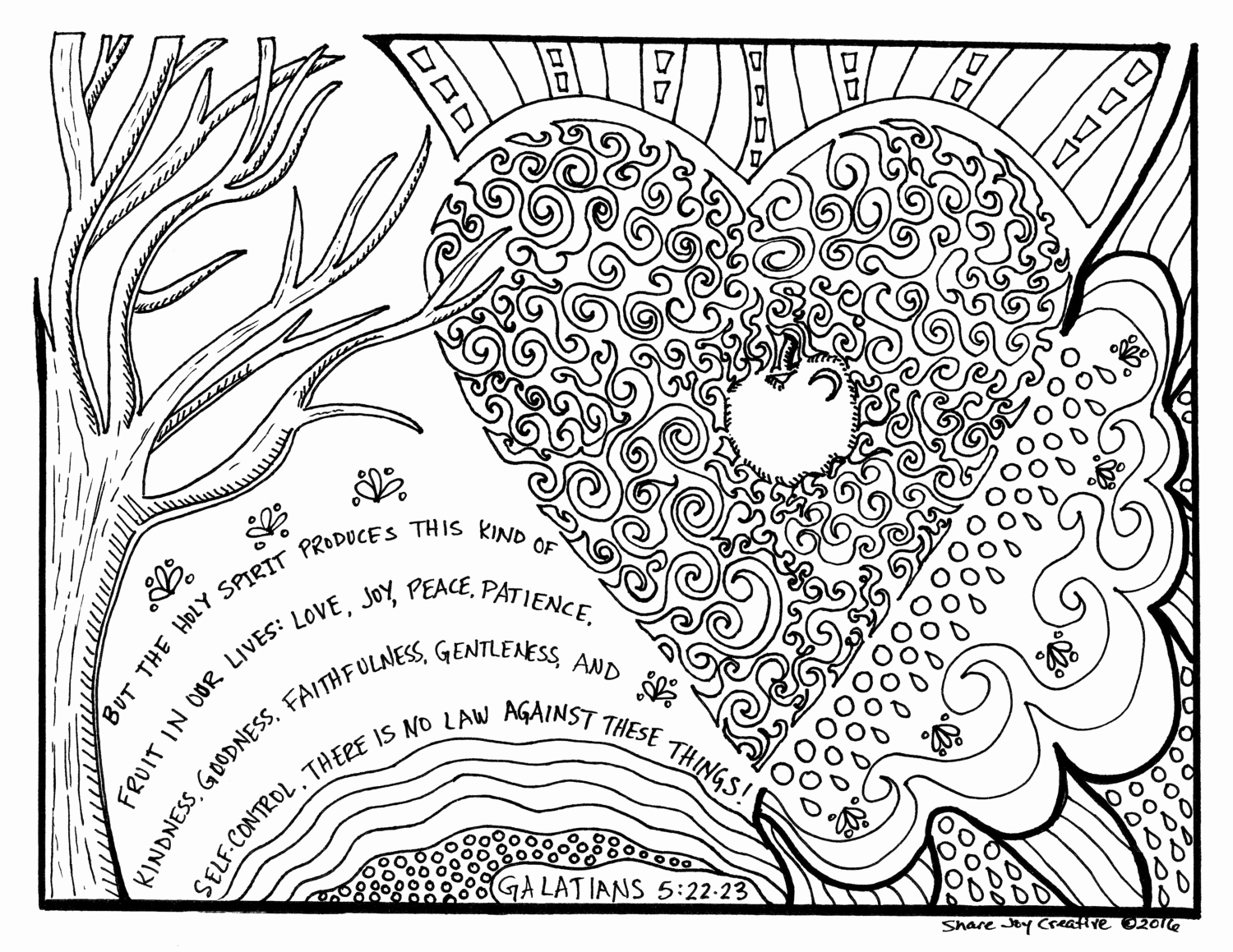 1500x1159 R Rated Coloring Pages Elegant The Fruit Of The Holy Spirit