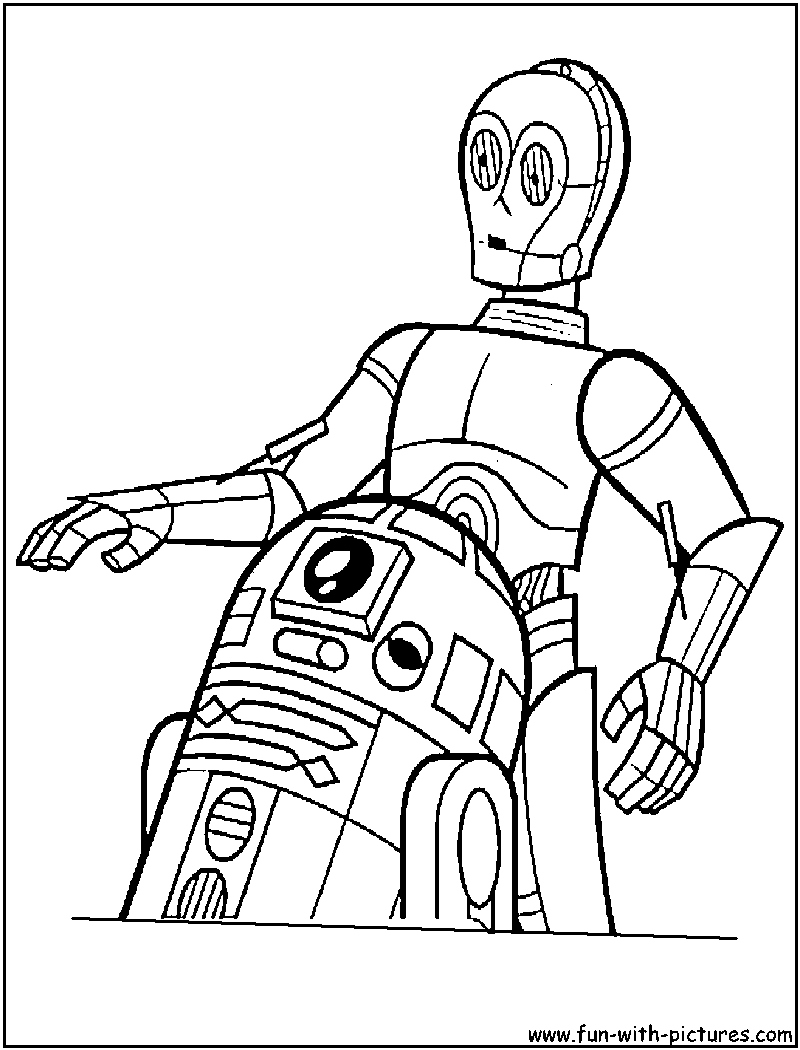 R2d2 And C3po Coloring Pages