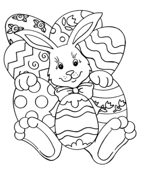 290x353 Easter Page Printable Easter Activity Sheet, Easter Bunny
