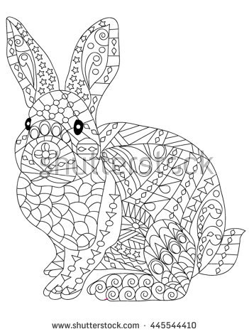 351x470 Adult Anti Stress Coloring Page With High Details Isolated