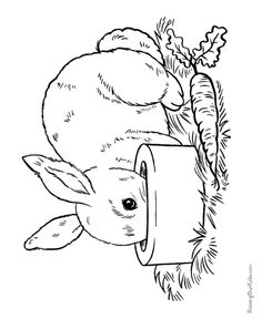 236x288 Bunny Rabbit Coloring Pages This Easter Rabbit Coloring Page