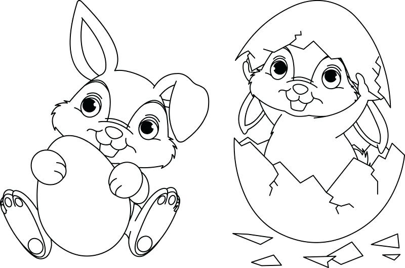 Rabbit Coloring Pages For Kids
