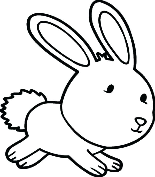 600x686 Cute Bunny Coloring Pages Coloring Page Bunny For Printable