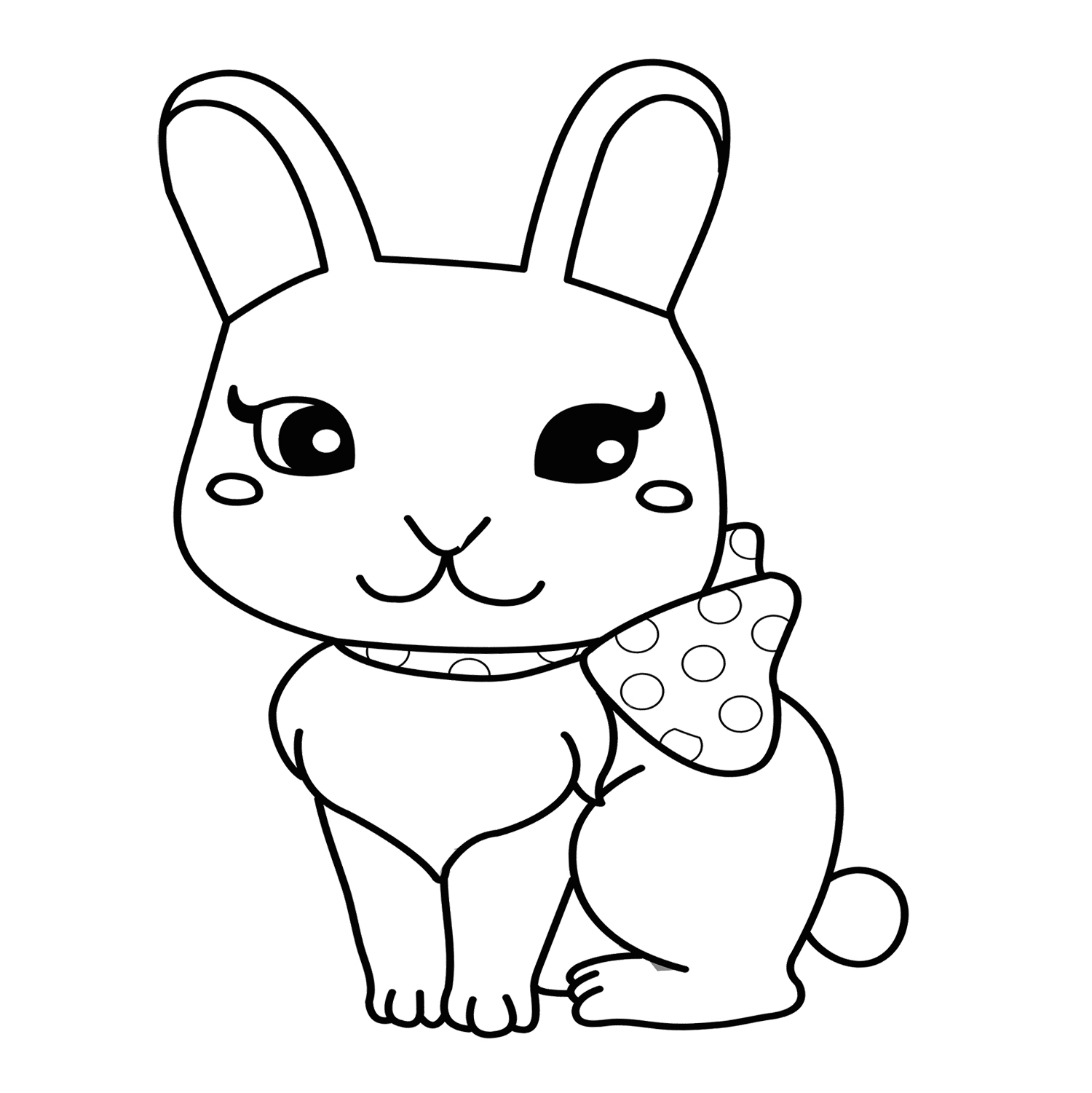 1500x1501 Cute Rabbit Coloring Pages Bunny