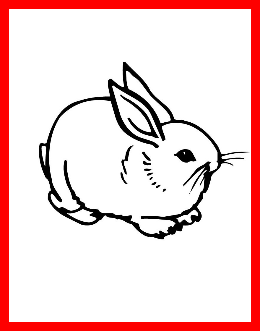 880x1120 Shocking Nice Bunny Rabbit Coloring Pages Printable For Kids Image