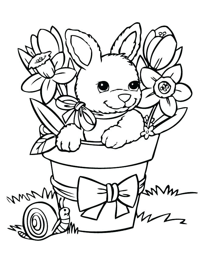 670x867 Coloring Pages Easter Coloring Pages Of Rabbits Bunny Coloring