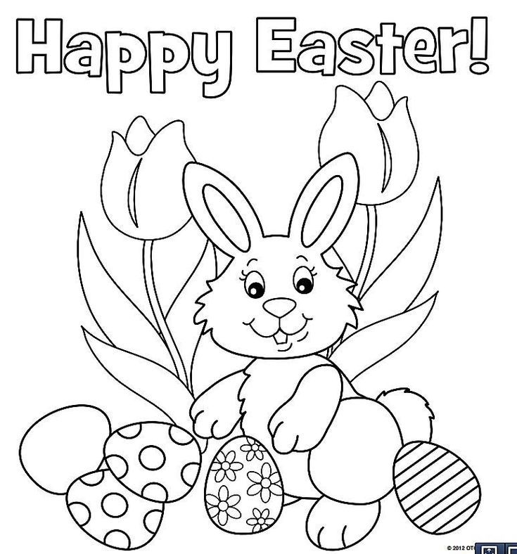 735x788 The Kids Will Love These Free, Printable Easter Bunny Coloring