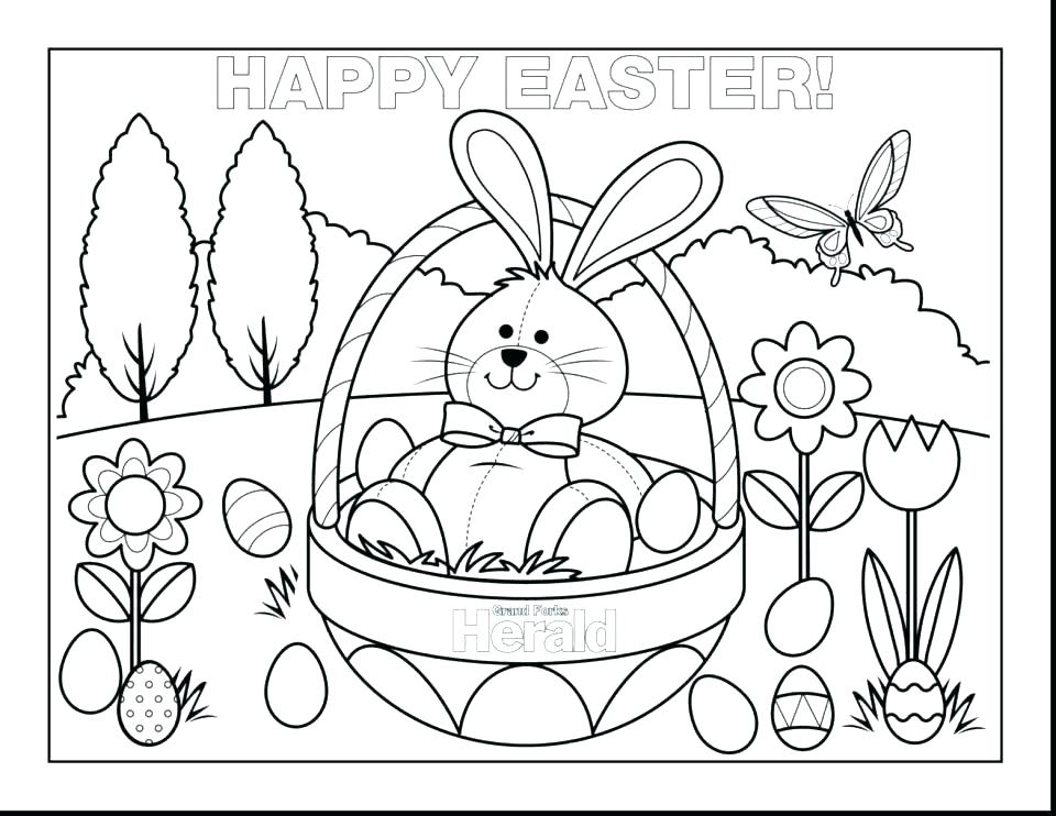960x742 Easter Bunny Coloring Pages That You Can Print