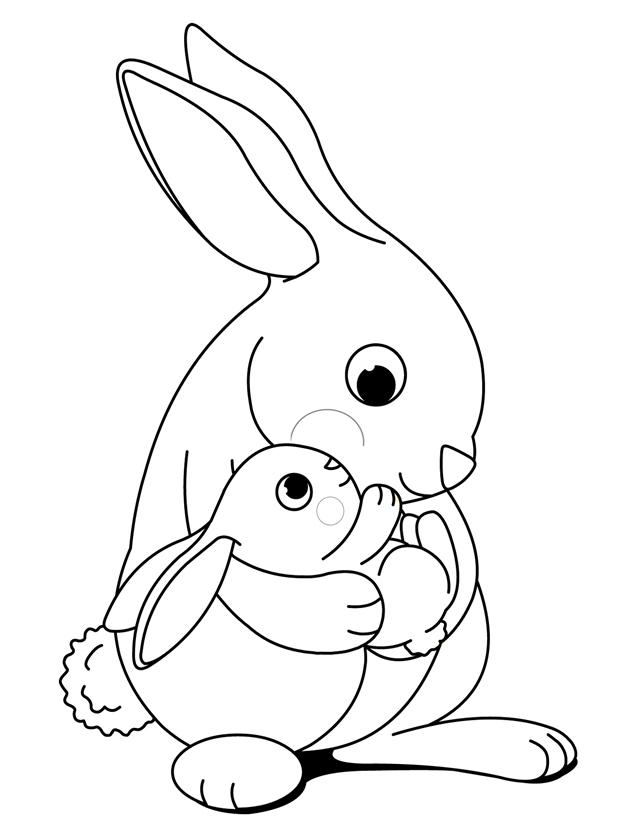 640x828 Bunny Coloring Pages Free Bunny Coloring Pages To Print Vitlt