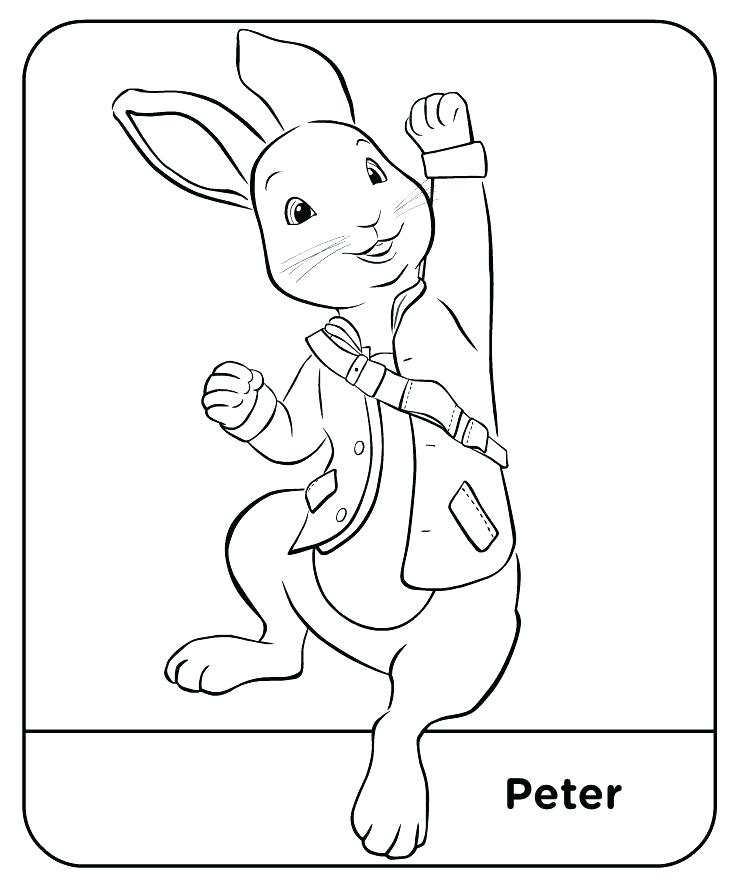 740x892 New Peter Rabbit Coloring Pages Bunny Page For Kids Dreaded Color