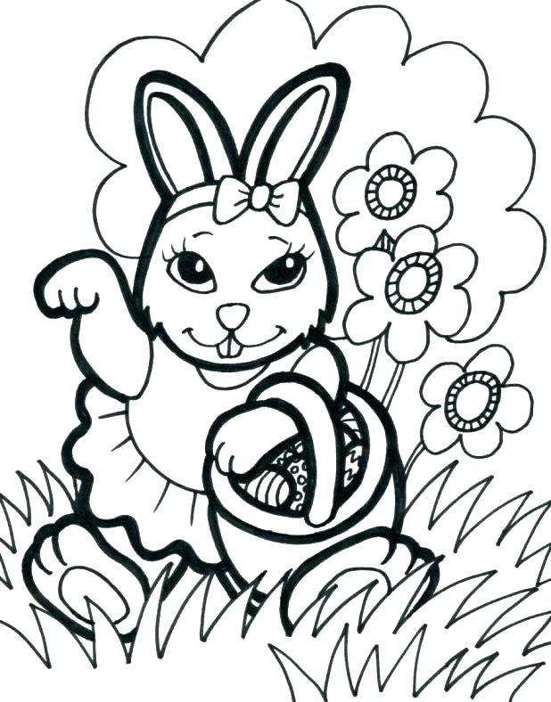 618x788 Bunny Rabbit Coloring Pages Bunny Coloring Sheets Egg Printable